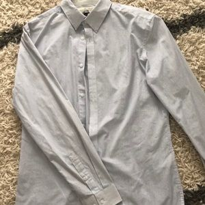 Men's, H&M slim fit pinstripe shirt